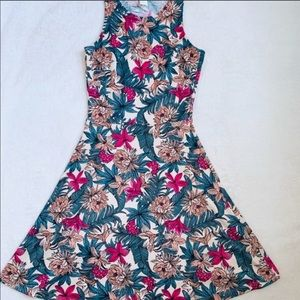 H&M Flowers Pattern Dress Sleeveless Size XS